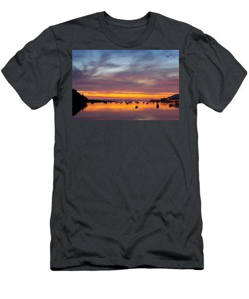 Fading Light, Conwy Estuary Men's T-Shirt (Athletic Fit)