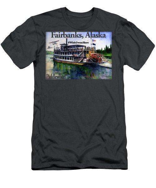 Fairbanks Paddle Wheel Shirt Men's T-Shirt (Athletic Fit)