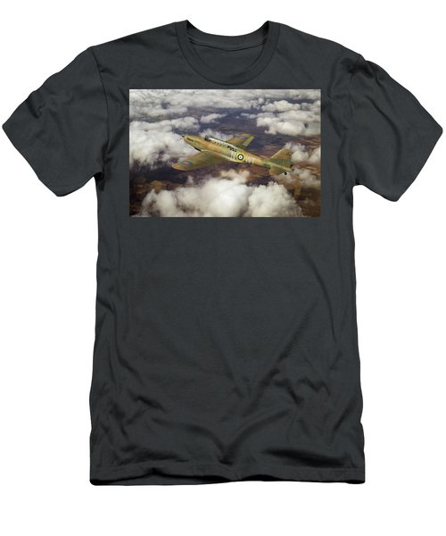 Men's T-Shirt (Athletic Fit) featuring the photograph Fairey Battle In Flight by Gary Eason