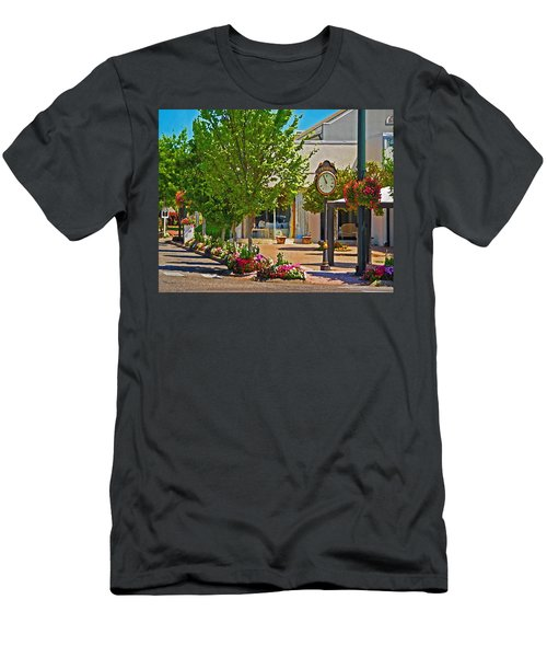 Fairhope Ave With Clock Looking North Up Section Street Men's T-Shirt (Athletic Fit)