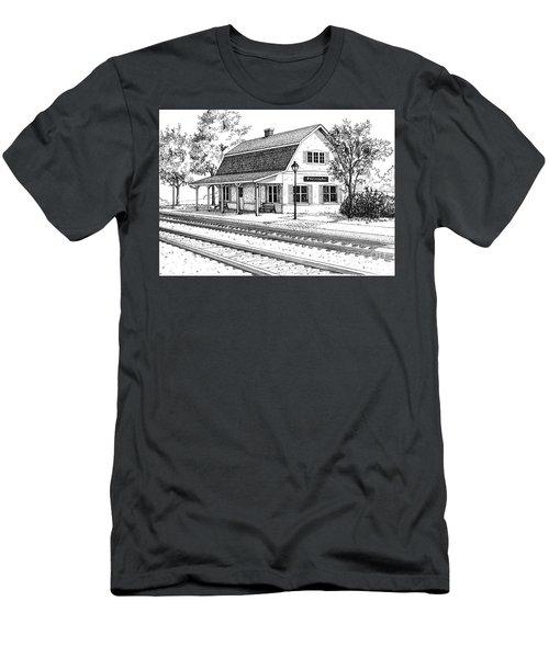 Fairview Ave Train Station Men's T-Shirt (Athletic Fit)