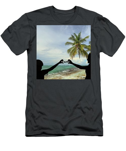 Men's T-Shirt (Athletic Fit) featuring the photograph Faith - Digital Art1 by Ericamaxine Price