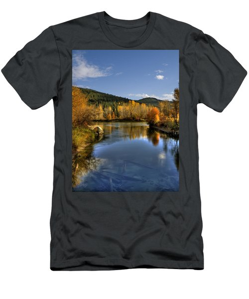 Fall At Blackbird Island Men's T-Shirt (Athletic Fit)