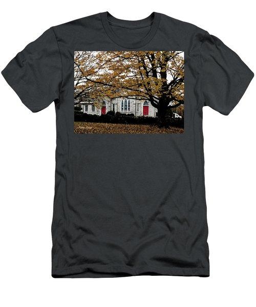 Fall At Church Men's T-Shirt (Athletic Fit)