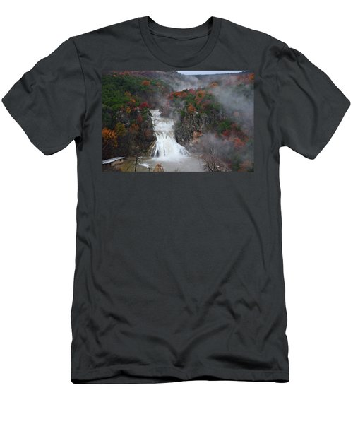 Fall At Turner Falls Men's T-Shirt (Athletic Fit)
