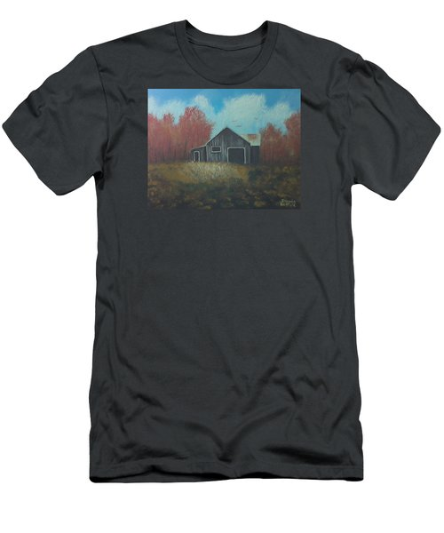 Autumn Barn Men's T-Shirt (Slim Fit) by Brenda Bonfield