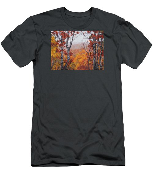Men's T-Shirt (Slim Fit) featuring the painting Fall Color by Karen Ilari