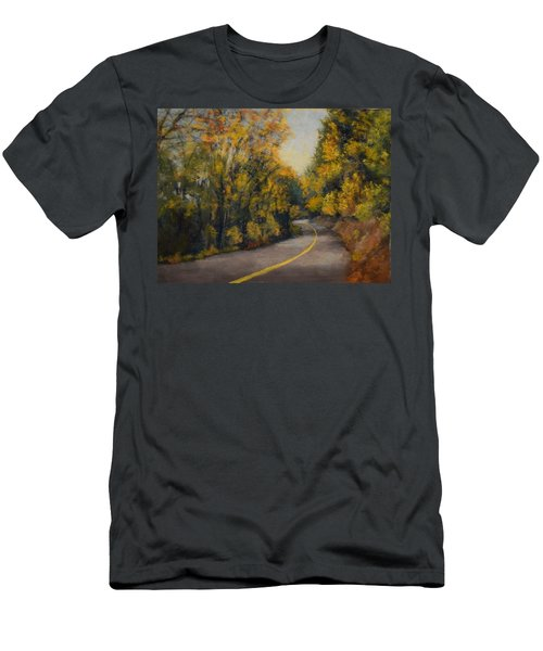 Men's T-Shirt (Slim Fit) featuring the painting Fall Color by Nancy Jolley