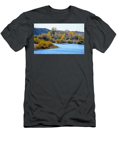 Men's T-Shirt (Athletic Fit) featuring the photograph Fall Color On The Yuba  by AJ Schibig