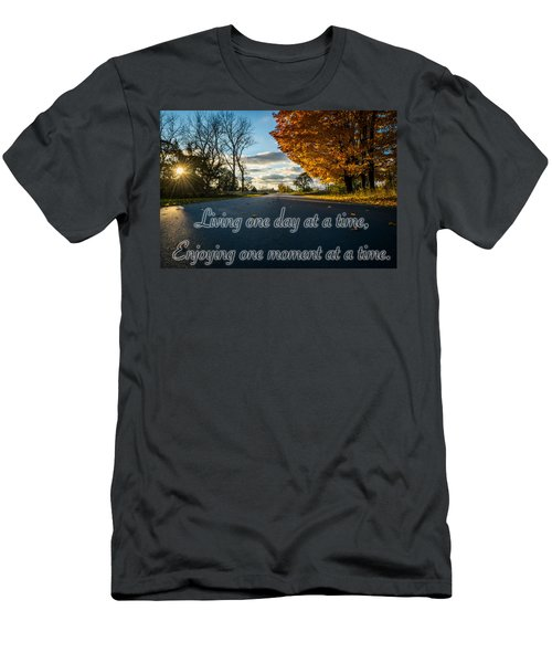 Fall Day With Saying Men's T-Shirt (Athletic Fit)