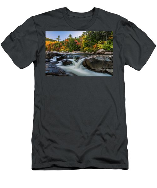 Men's T-Shirt (Slim Fit) featuring the photograph Fall Foliage Along Swift River In White Mountains New Hampshire  by Ranjay Mitra
