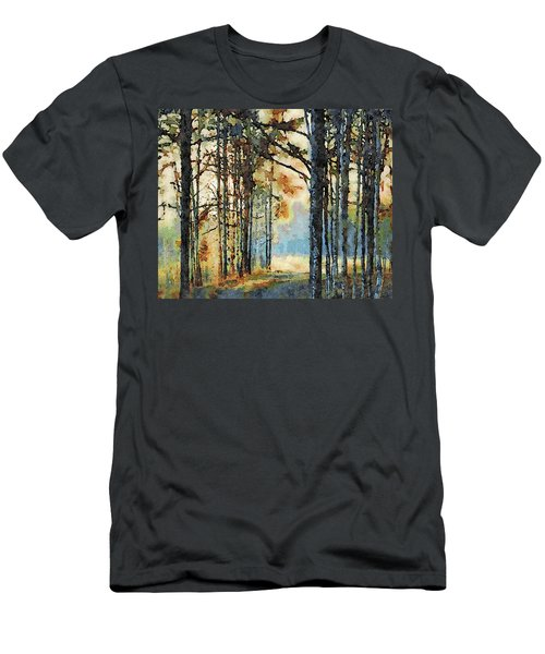 Fall Forest Watercolor Men's T-Shirt (Athletic Fit)