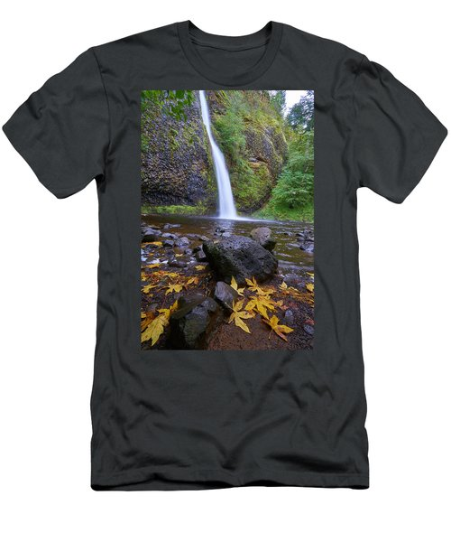 Fall Gorge Men's T-Shirt (Slim Fit) by Jonathan Davison