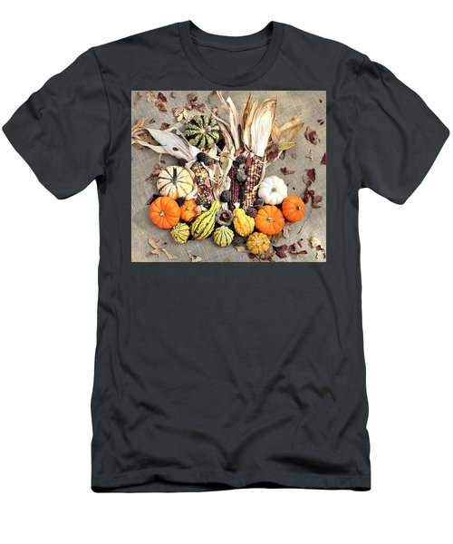 Men's T-Shirt (Athletic Fit) featuring the photograph Fall Harvest by Sheila Brown