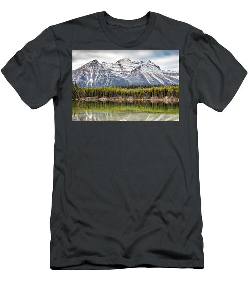 Fall In The Canadian Rockies Men's T-Shirt (Slim Fit) by Pierre Leclerc Photography