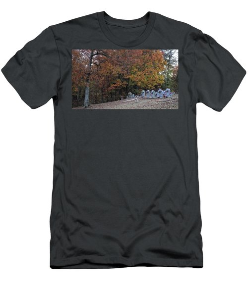 Fall In The Cemetery Men's T-Shirt (Athletic Fit)