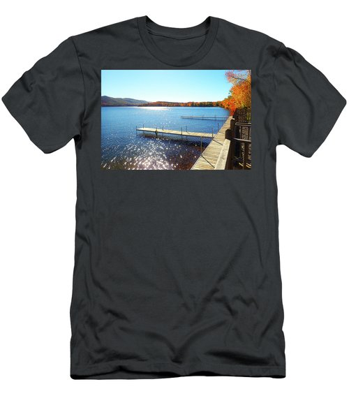 Fall On Lake Dunmore Men's T-Shirt (Athletic Fit)