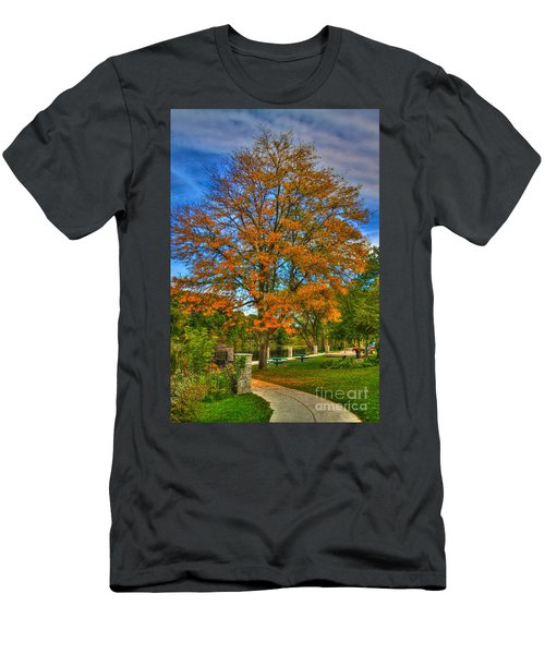 Fall On The Walk Men's T-Shirt (Athletic Fit)