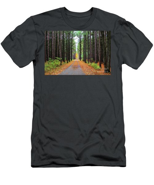 Fall Pines Road Men's T-Shirt (Athletic Fit)