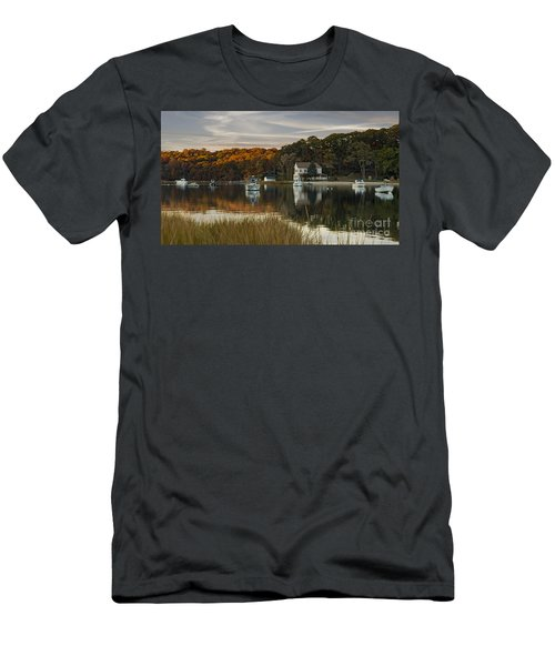 Fall Sunset In Centerport  Men's T-Shirt (Athletic Fit)
