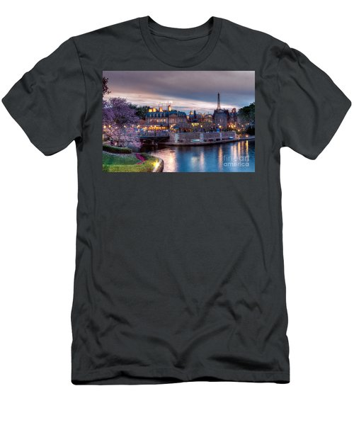 Fall Sunset Of France Men's T-Shirt (Athletic Fit)