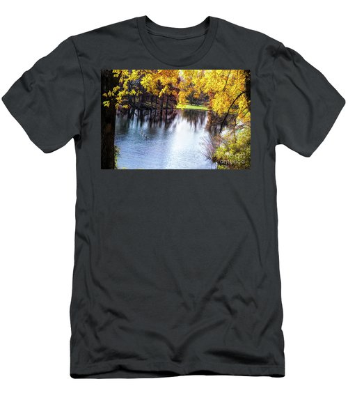 Fall Yellow Boarder Men's T-Shirt (Athletic Fit)