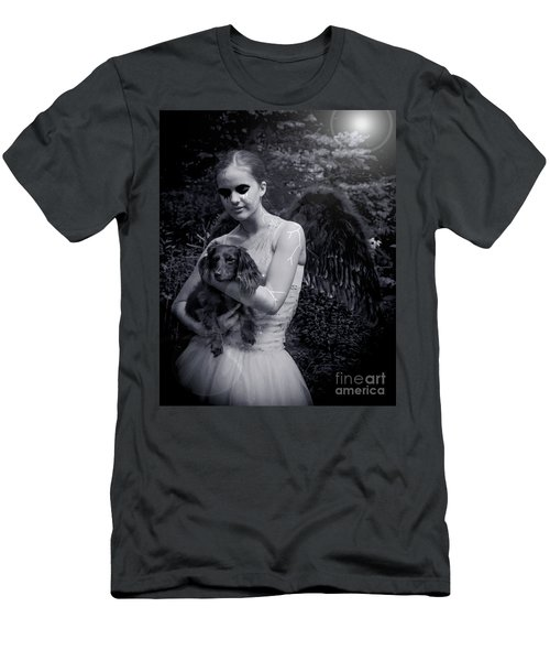Men's T-Shirt (Slim Fit) featuring the photograph Fallen Angel by Rebecca Margraf