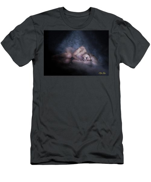 Men's T-Shirt (Athletic Fit) featuring the photograph Fallen Figure In The Fog by Rikk Flohr