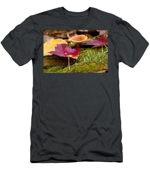 Fallen Leaves And Mushrooms Men's T-Shirt (Athletic Fit)