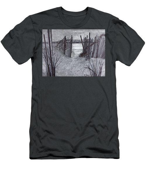 Falling Fence Men's T-Shirt (Athletic Fit)