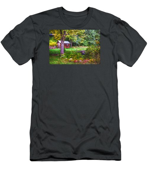 Falling Into Autumn Men's T-Shirt (Slim Fit) by Tricia Marchlik