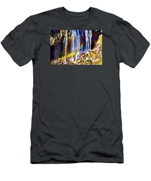 Falling Rainbows Men's T-Shirt (Slim Fit) by Anthony Baatz