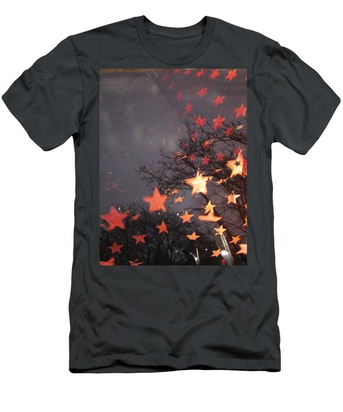 Falling Stars And I Wish.... Men's T-Shirt (Athletic Fit)