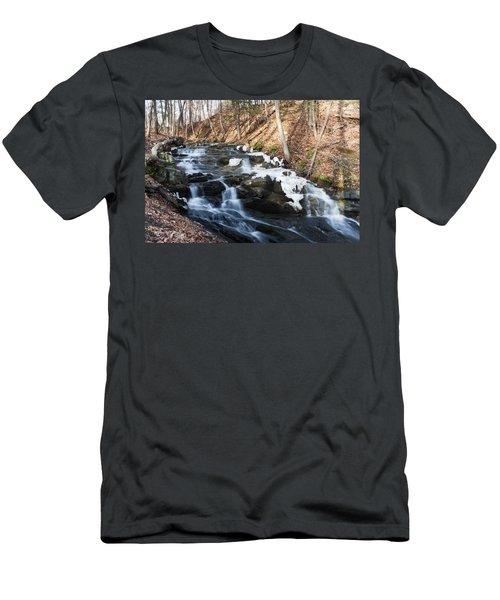 Falling Waters In February #1 Men's T-Shirt (Slim Fit) by Jeff Severson