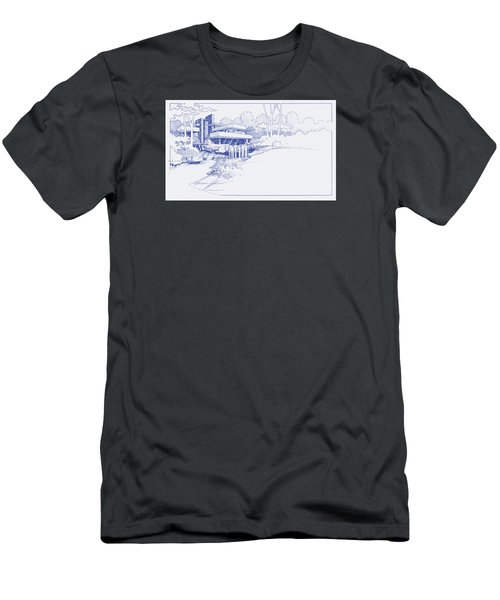 Fallingwater Blueprint Men's T-Shirt (Athletic Fit)
