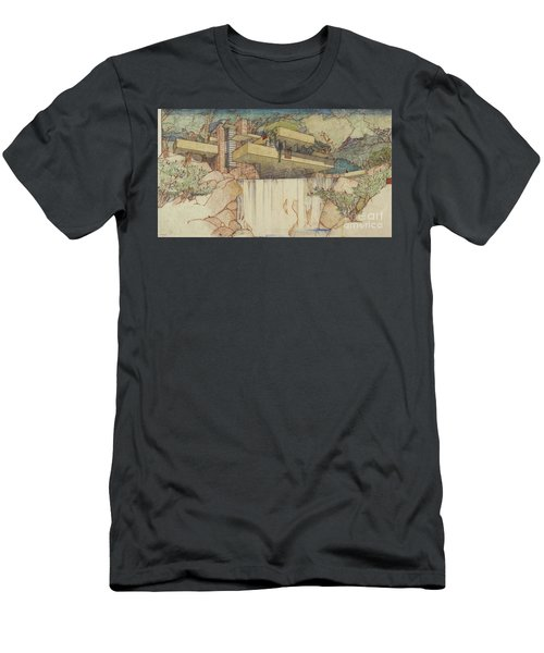 Fallingwater Pen And Ink Men's T-Shirt (Athletic Fit)