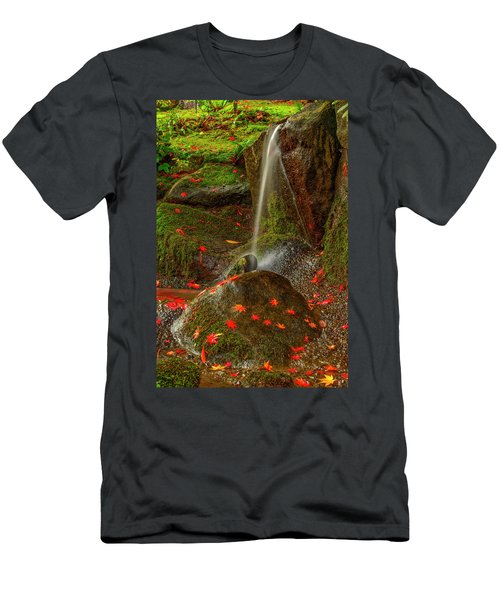 Falls In Seattle Japanese Garden Men's T-Shirt (Athletic Fit)