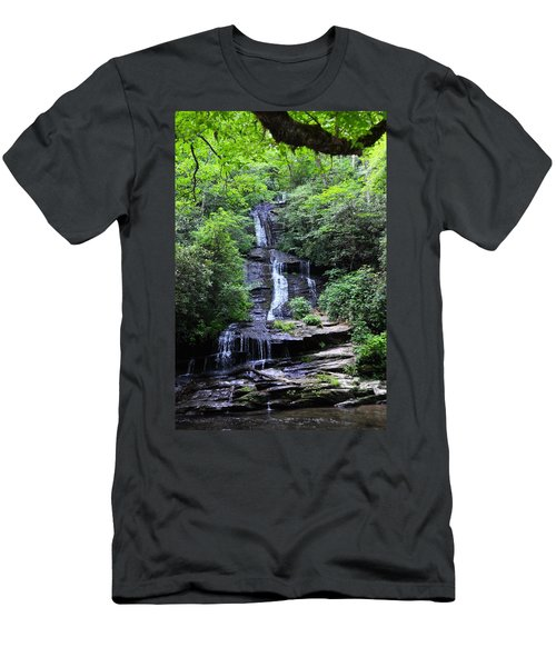Falls Near Bryson City Men's T-Shirt (Athletic Fit)