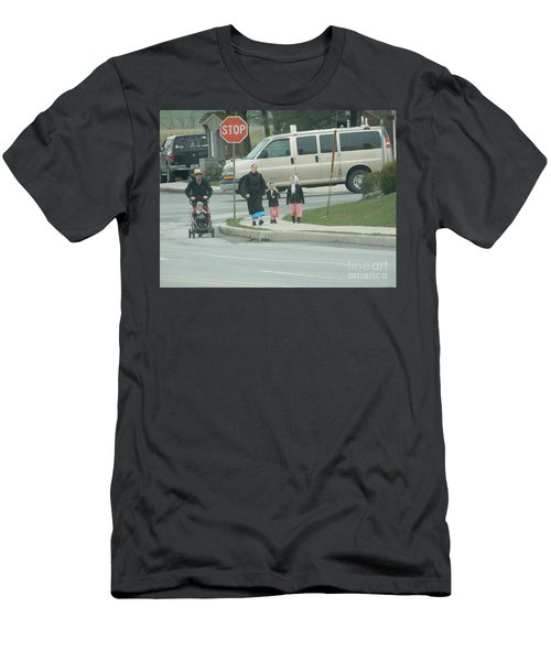 Family Walk Men's T-Shirt (Athletic Fit)