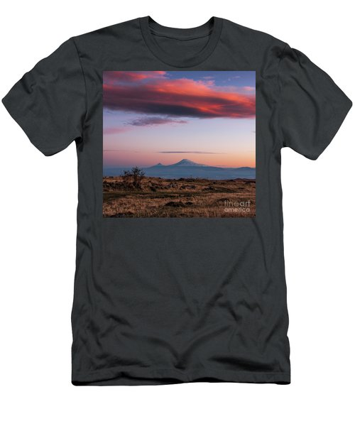 Famous Ararat Mountain During Beautiful Sunset As Seen From Armenia Men's T-Shirt (Athletic Fit)
