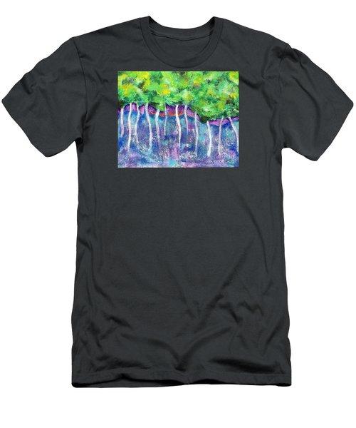 Fantasy Forest Men's T-Shirt (Slim Fit) by Elizabeth Fontaine-Barr