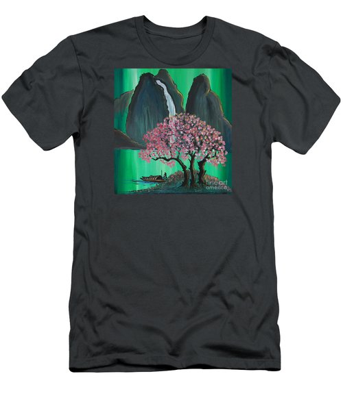 Fantasy Japan Men's T-Shirt (Slim Fit) by Jacqueline Athmann