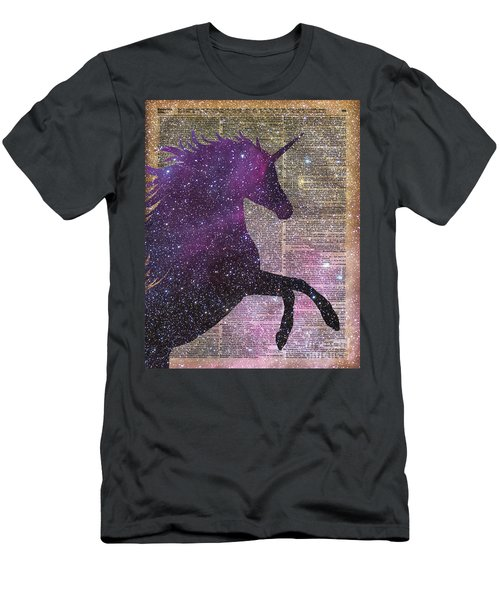 Fantasy Unicorn In The Space Men's T-Shirt (Athletic Fit)