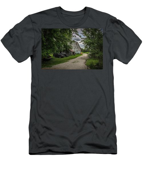 Men's T-Shirt (Slim Fit) featuring the photograph Farm Drive by Ray Congrove