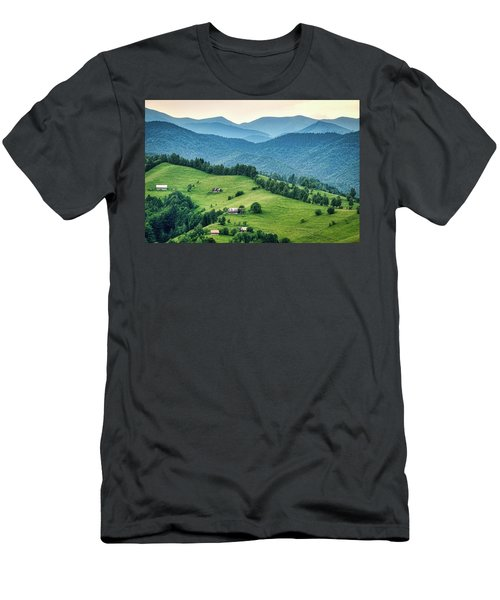 Farm In The Mountains - Romania Men's T-Shirt (Athletic Fit)