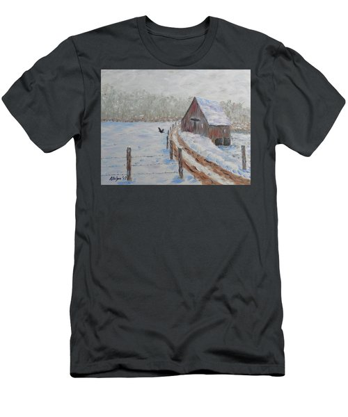 Farm Land Men's T-Shirt (Slim Fit) by Stanton Allaben