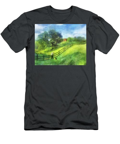 Farm On The Hill Men's T-Shirt (Athletic Fit)