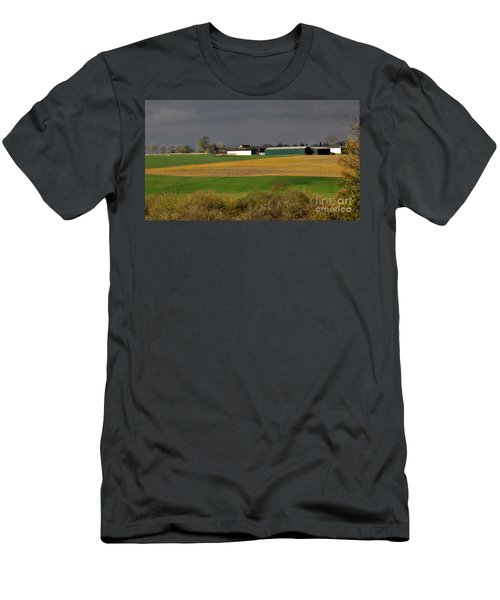 Men's T-Shirt (Athletic Fit) featuring the photograph Farm View by Jeremy Hayden
