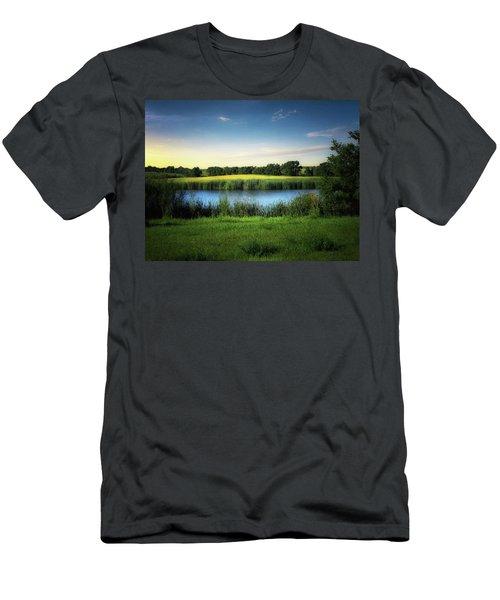 Farmland Waters Men's T-Shirt (Athletic Fit)
