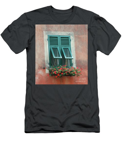 Men's T-Shirt (Athletic Fit) featuring the photograph Faux  Painting Window  by Frank Stallone